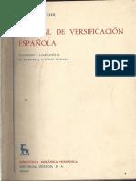 Manual de Versificacion Espanola