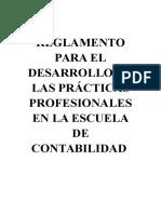 REGLAMENTO PRACTICAS PROFESIONALES