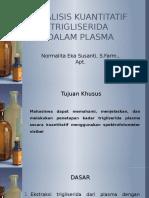 Analisis Kuantitatif Trigliserida Dalam Plasma