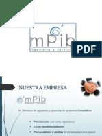 Presentacion Mpib Servicios y Productos