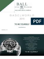 BALL Watch Company catalogue 2015