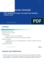 General SAP Testing Process Concept and Quality Center Training