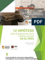 1. Panorama de Cambios Curriculares en Peru - Luis Guerrero