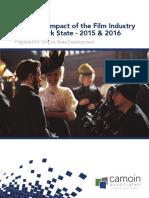 2017 Report on NY film tax credits