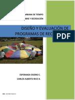 DISEÑO Y EVALUACION DE PROGRAMAS DE RECREACION ESPERANZA OSORIO