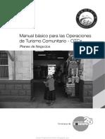 Manual Básico Para Las Operaciones de Turismo Comunitario – OTCs (Planes de Negocios)