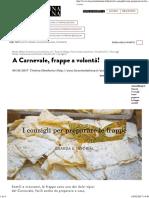 Come Preparare Le Frappe Di Carnevale_ La Ricetta