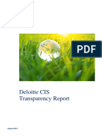 Deloitte Transparency Report 2014