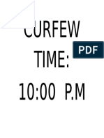 Curfew Time