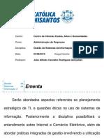 Adm - GS - II - Aula 01a - 20150803