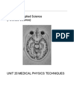 Unit 20 Medical Physics Techniques Complete