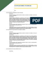 Expecificaciones Tecnicas CONCRETO SIMPLE Y ARMADO