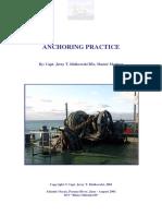 Anchoring Practice (T.idzikovski 2001)