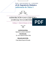 Absorción Gas-Líquido contacto continuo