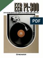 Pioneer PL300 Brochure