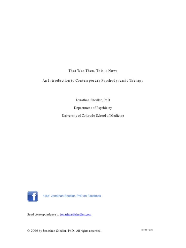 Jonathan shedler psychoanalysis and sexuality