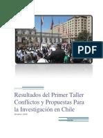Resultados Del Primer Taller Conflictos y Propuestas