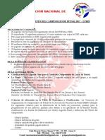 Bases y Reglamento Campeonato de Verano 2017