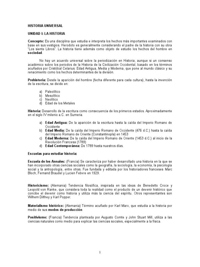 Historia Universal - Guia Definitivaaaa