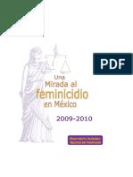 Informe Final Una Mirada Al Feminicidio 2009 20101word
