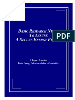 Secure Energy Future Research Needs