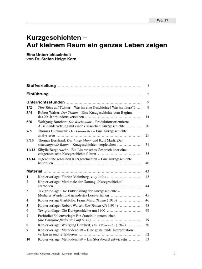 Deutsch Kurzgeschichten   PDF