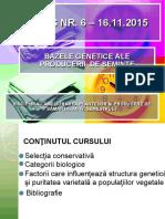 CURS NR.6 Bazele Genetice Ale Producerii de Samanta