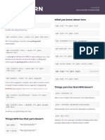 NPM vs YARN Cheat Sheet, by Gant Laborde