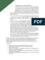 Definicion y Funciones de La Salud Publica