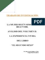 LA MUJER SEGÚN SIMONE DE BEAUVOIR.   ANÁLISIS DEL VOLUMEN II