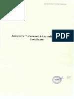 Annexure 7 Current Liquidity Ratio Certificate