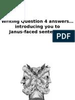 Janus-faced Sentences John Tomsett
