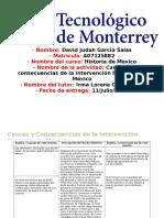 Causas y consecuencias de la intervención en México