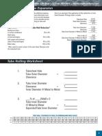 Tube Rolling Worksheet