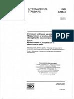 ISO 4266-4 Medición de Temperatura en Tanques