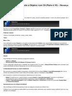 Sinergia - Programação Orientada a Objetos Com C# (Parte 4.10) – Herança