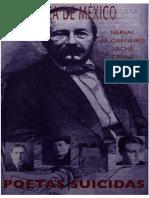 Folleto Biblioteca de México Poetas suicidas