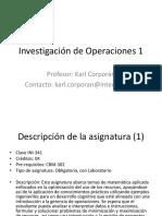 Investigación de Operaciones 1 - Semana 1