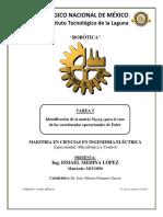 Identificación de matrices para el caso de ángulos de Euler