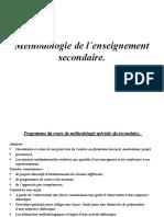 DES Methodologie de l Enseignement Secondaire