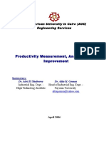 Productivity Measurement,Analysis and Improvement