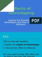 Stereotyping, Prejudice Presentation