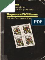 143508023 Raymond Williams Cultura PDF