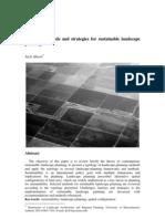 jack ahern. landscape design teories, metodology 4 sustainable...
