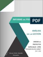 Informe de fiscalización a proyectos de UPRE