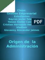 Origen de La Administración