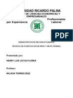 Tecnicas de Planificación de RRHH y Grupo Nominal - Henry