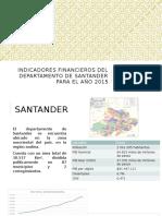Indicadores Financieros Del Departamento de Santander Para El