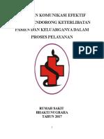 01.PANDUANkomunikasi Efektif Untuk Mendorong Keterlibatan Pasien Dan Keluarga Dalam Proses Pelayanan