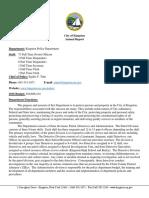 Kingston Police Department Report